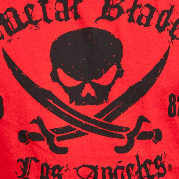 Pirate Logo Black on Red