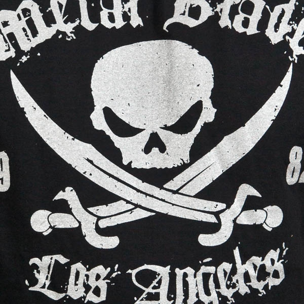 Pirate Logo Silver on Black