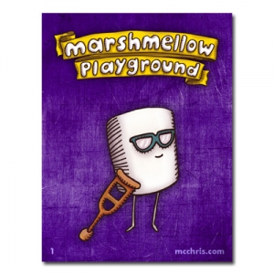 marshmellow playground boy sticker