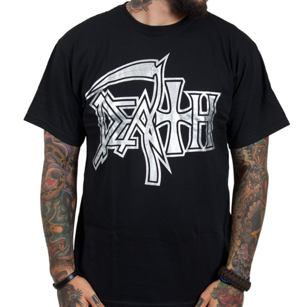 Death Quot Silver Logo Quot T Shirt Indiemerchstore