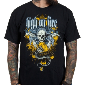 High on fire crest t shirt indiemerchstore for On fire brand t shirts