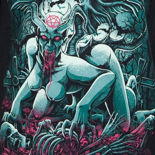 Six Feet Under Quot Devil Quot T Shirt Metal Blade Records