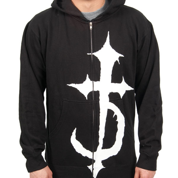 Devildriver Quot Cross Quot Zip Hoodie Indiemerchstore