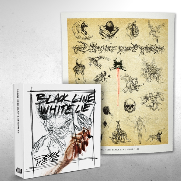 Black Line White Lie - Perfect bound with poster signed