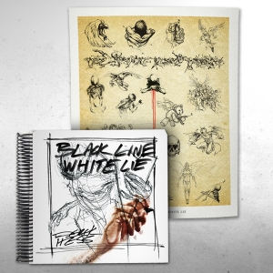 Black Line White Lie  - Tattoo Edition Spiral Bound Signed with poster