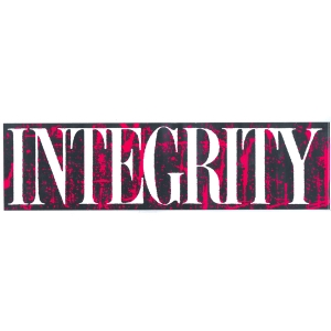 "Integrity ""Bold Print"""