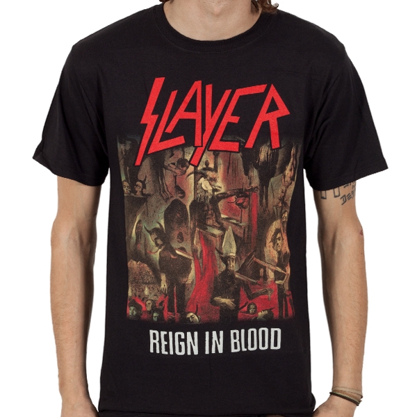 slayer reign in blood t shirt indiemerchstore. Black Bedroom Furniture Sets. Home Design Ideas