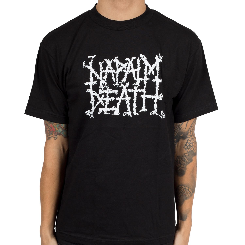 Napalm Death Quot Logo Quot T Shirt Indiemerchstore