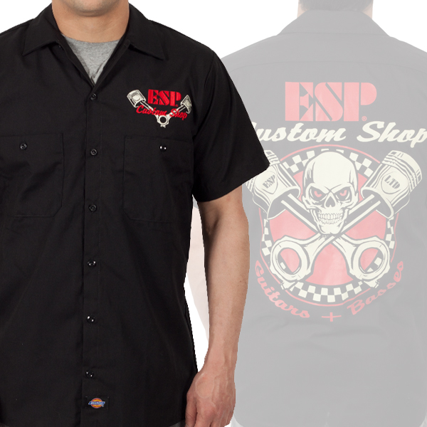 esp guitars custom shop work shirts esp guitars