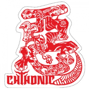 CHTHONIC Demon Bulls sticker-Red