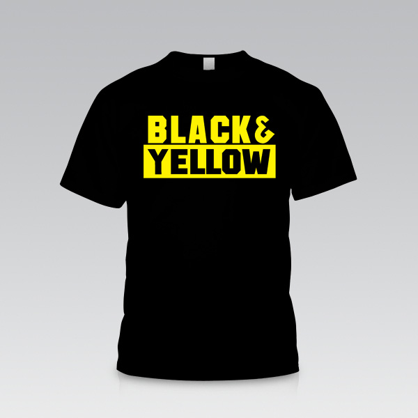 Yellow Black T Shirt