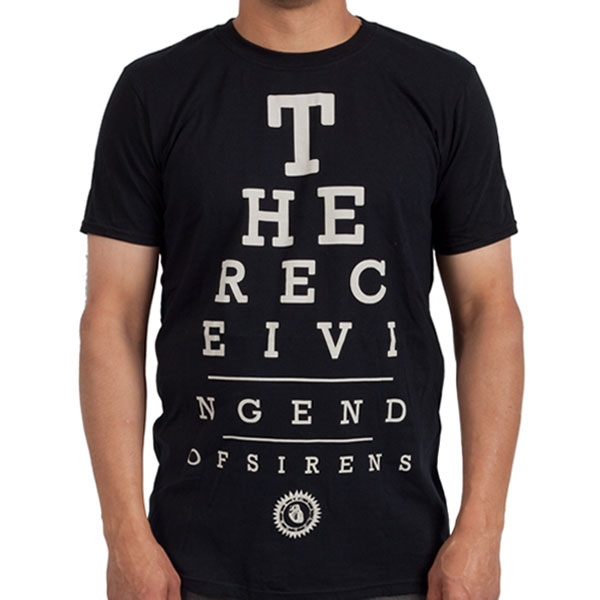 The Receiving End Of Sirens Eye Chart T Shirt The Receiving End