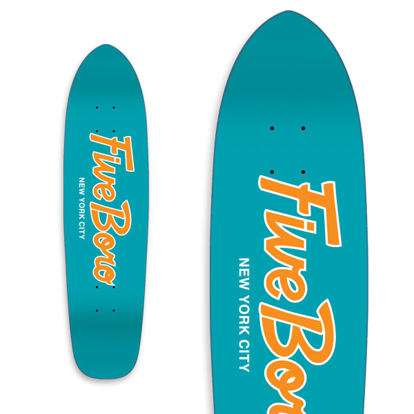 Team Script Cruiser Teal & Orange