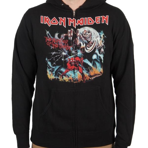 Iron Maiden Quot Number Of The Beast Quot Zip Hoodie Indiemerchstore