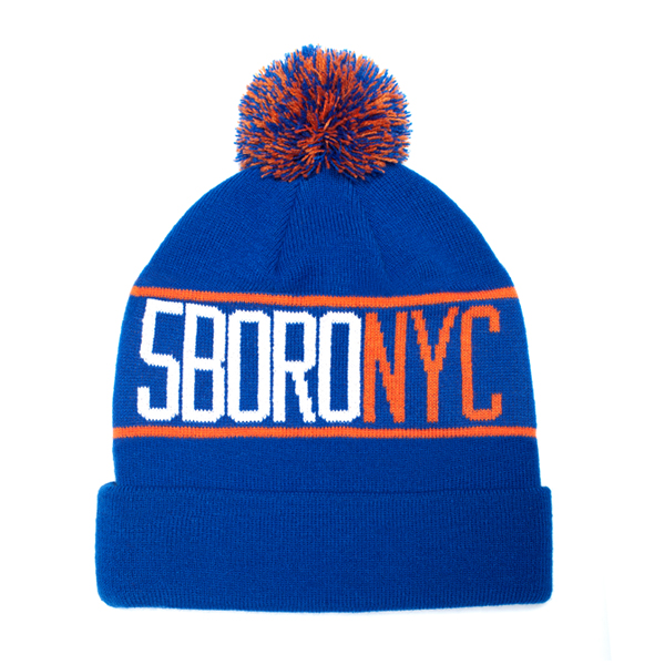 5BORO NYC Pom Pom Beanie Royal Blue