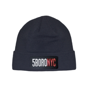 5BORO NYC Patch Beanie Black