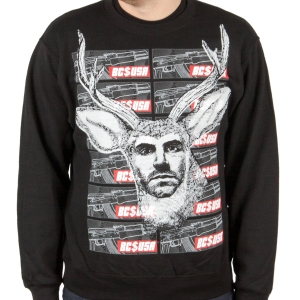 Chocolate Deer Crewneck