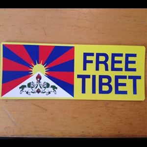Free Tibet Sticker (with flag)