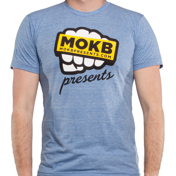 Robot Clothing Logo Mokb Presents Light Blue Logo