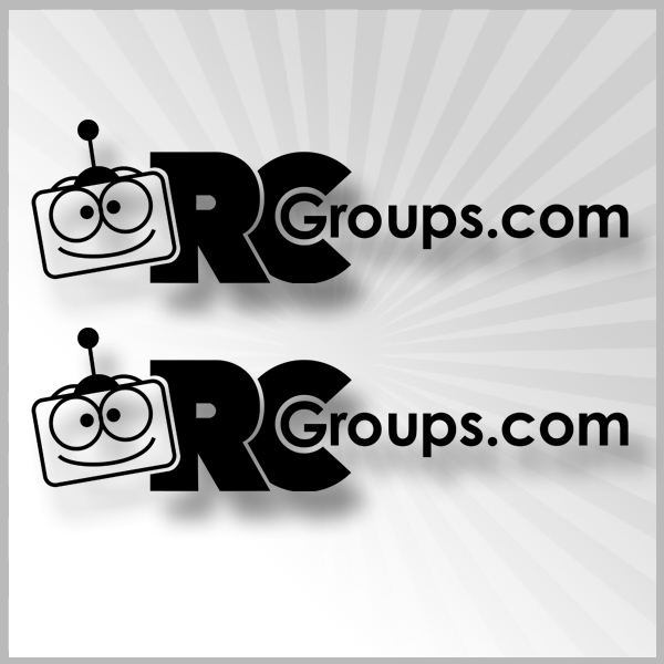 "RCGroups.com Vinyl Sticker Black  7.25"" x 2"""