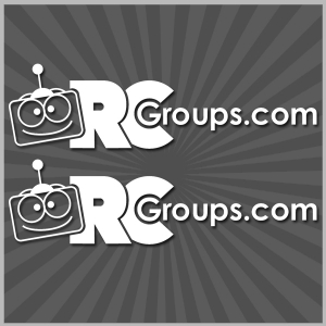 "RCGroups.com Vinyl Sticker White  7.25"" x 2"""