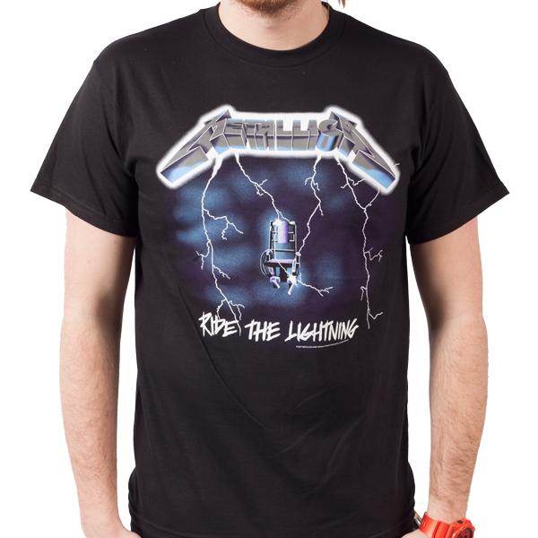 Metallica Quot Ride The Lightning Quot T Shirt Indiemerchstore