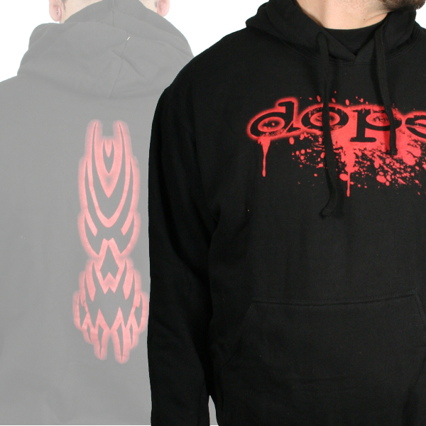 Blood Splatter Logo with Tribal Back