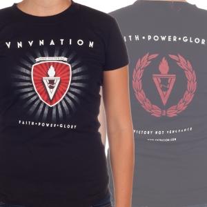 """Faith Power Glory"" - Ladies T-Shirt"