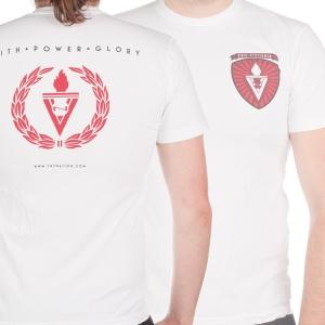 """Faith Power Glory"" - White T-Shirt"
