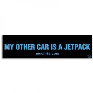 jetpack bumper sticker