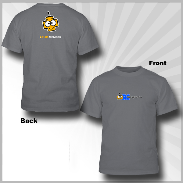 RCGroups.com Plus Logo Grey T-Shirt