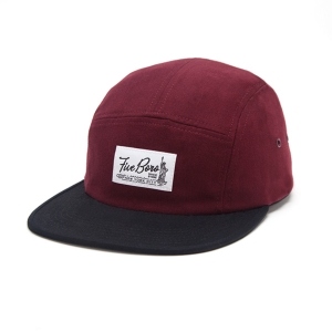 SHAOLIN ISLAND FIVE PANEL- BURGUNDY