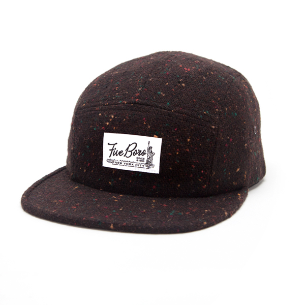 SHAOLIN ISLAND FIVE PANEL- BROWN WOOL