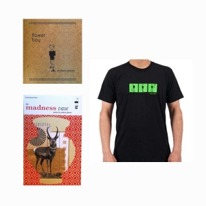 FLOWER BOY CD, T SHIRT & MADNESS VASE BOOK