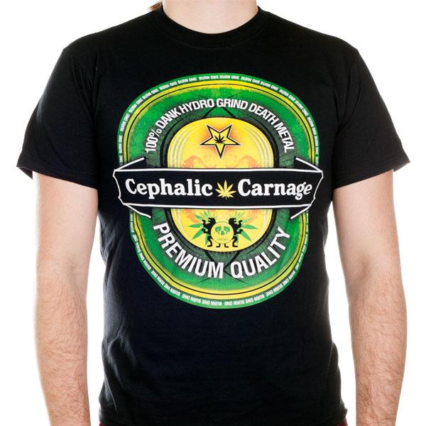 Cephalic Carnage Quot Beer Logo Quot T Shirt Indiemerchstore