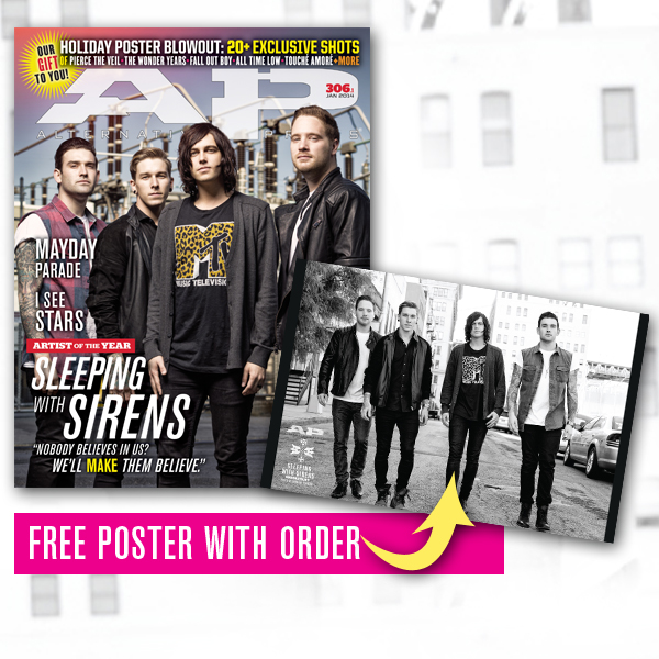 Free poster + 306.1 Sleeping With Sirens (01/14)