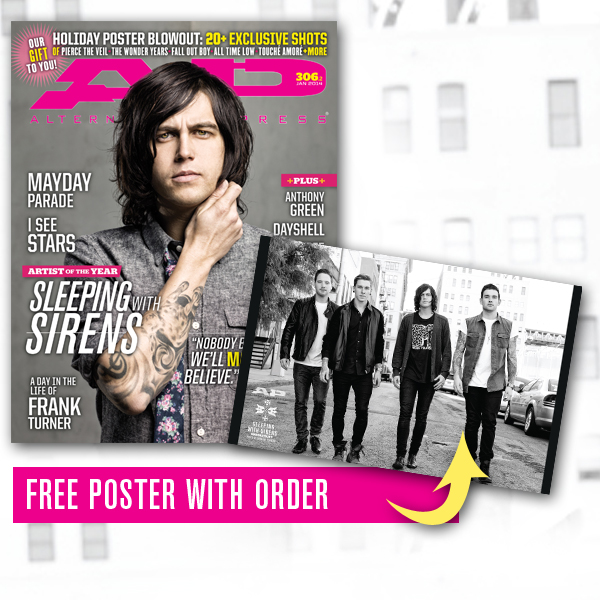 Free poster + 306.2 Sleeping With Sirens (01/14)