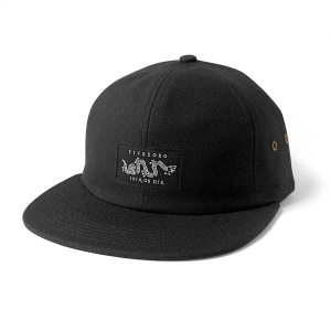 JOIN OR DIE SIX PANEL- BLACK HEAVY CANVAS