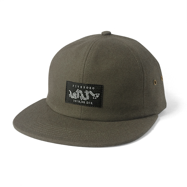 JOIN OR DIE SIX PANEL- MOSS HEAVY CANVAS