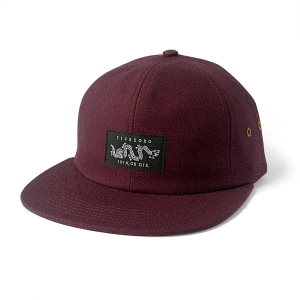JOIN OR DIE SIX PANEL- BURGUNDY HEAVY CANVAS
