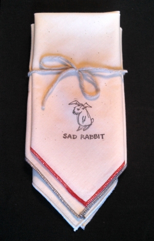 Sad Rabbit Handkerchiefs