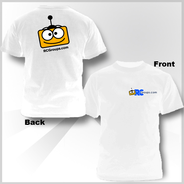 RCGroups.com Logo White T-Shirt