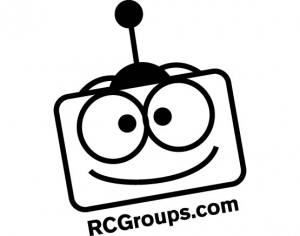 "RCGroups.com Sticker Black 1.5""x1.5"""