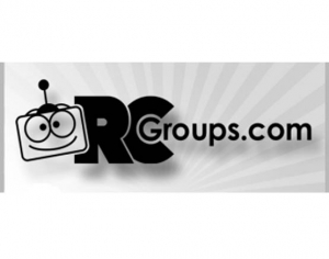 "RCGroups.com Sticker Black 1.75""x0.53"""