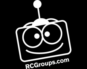 "RCGroups.com Vinyl Sticker White 3""x2"""