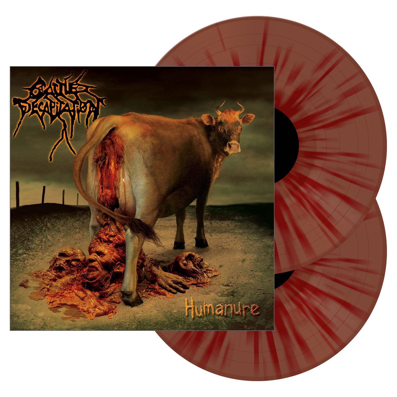 Cattle Decapitation Quot Humanure Bloody Stool Colored Vinyl
