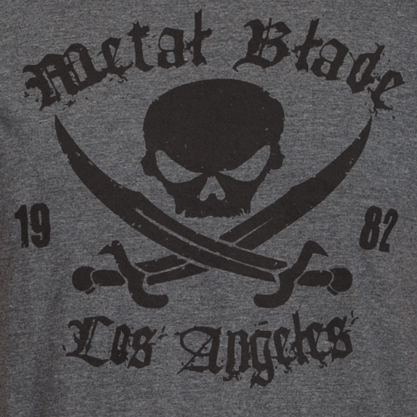 Pirate Logo Black On Dark Heather
