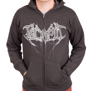 Dripping Logo Zip Charcoal