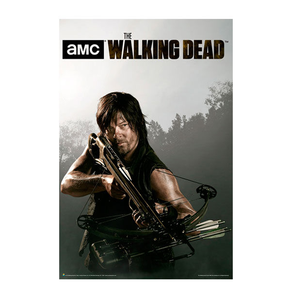 the walking dead season four daryl posters horror business. Black Bedroom Furniture Sets. Home Design Ideas