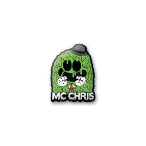 enamel green ghost pin